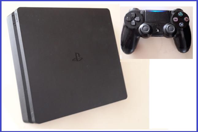 PS4 en 2 spellen + (tv) scherm  (5)